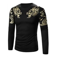 SHARE & Get it FREE   Slimming Golden Totem Pattern Long Sleeve T-ShirtFor Fashion Lovers only:80,000+ Items·FREE SHIPPING Join Dresslily: Get YOUR $50 NOW!