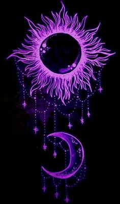 Everything Purple Body Art Sun Moon Tattoos Black Tattoo Star