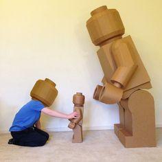 Cardboard Legoman