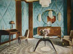 Art Deco Interior with furniture designed by Emile-Jacques RUHLMANN (hva)