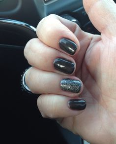 New OPI gel polish colors! Love the charcoal and the glitter charcoal gray on the ring finger. A new favorite!
