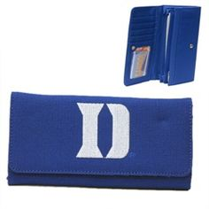 Duke University Blue Devils Polyester Licensed Wallet embroidered with team logo. $39.99