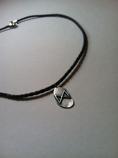 Rune leather necklace