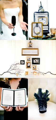 Black Gold Wedding black and gold wedding inspiration-- so I fell in love with Black and Gold. Def has all my attention and thoughts now. - From Inspiration to Reality, II Plan My Wedding, Wedding 2015, Wedding Story, Our Wedding, Dream Wedding, Cute Wedding Dress, Fall Wedding Dresses, Colored Wedding Dresses, Perfect Wedding