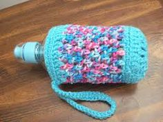 Image result for crochet water bottle holder