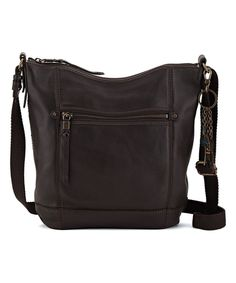 Take a look at this The Sak Cocoa Sequoia Leather Crossbody Bag today!