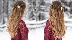 4 Strand Waterfall| Half Up Hairstyle | Cute Girls Hairstyles