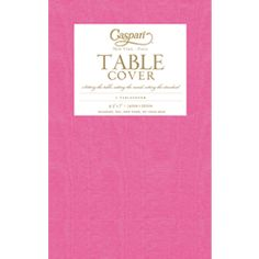 Fuchsia Moire Table Cover