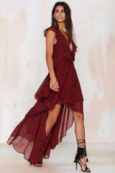 The Jetset Diaries Goddess Lace-Up Dress - Midi + Maxi