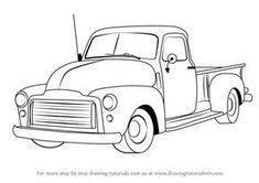Cartoon Car Drawing, Car Drawings, Cars Cartoon, Cool Trucks, Fire Trucks, Lifted Trucks Quotes, Kombi Pick Up, Truck Tattoo, Gmc Pickup Trucks