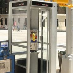 """The city plans to unveil """"smart screens"""" with Internet connections next month inside 250 old phone booths throughout the five boroughs. Old Phone, Smart City, New Phones, Screens, Cities, Internet, How To Plan, Home Decor, Canvases"""
