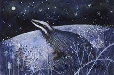 Badger by karendavis on Etsy, £11.00