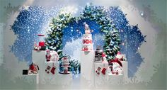 House of Fraser Christmas Windows by SFD