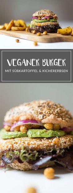 Veganer Burger mit Süßkartoffel und Avocado I Veganer Burger mit Süßkartoffel-Pattie I Veganes Rezept I Veganes Abendessen I Entdeckt auf glowing-mag.de | #vegan #veganburger #veganerburger