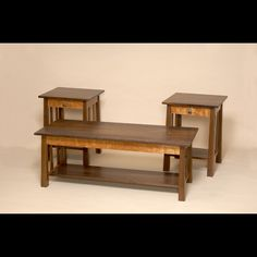 Prairie style Coffee and End table set