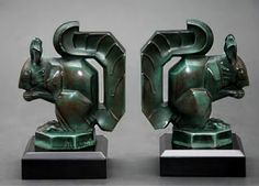 Art Deco squirrel bookends – Max LE VERRIER (hva)