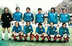 EQUIPOS DE FÚTBOL: SELECCIÓN DE YUGOSLAVIA contra España 21/10/1973