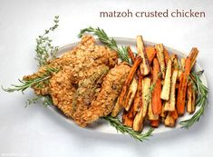 Put this matzoh crusted chicken on your Passover dinner rotation, stat! Grilled Walleye, Lemon Recipes, Healthy Recipes, Catering, Roasted Root Vegetables, Curry, Wheat Free Recipes, Crusted Chicken, How To Cook Chicken