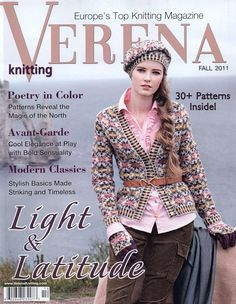 Verena Knitting Magazine Classic Sweaters And Cables Baby Projects Jacket 2011 Crochet Book Cover, Crochet Books, Knit Crochet, Cool Magazine, Book And Magazine, Knitting Magazine, Crochet Magazine, Knitting Books, Hand Knitting