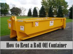 Roll Off Container -­ Tips for Renting One When demolishing or tearing out rooms before renovating, it's you are going to have to do something with all of the waste from the project. You typically see roll offs containers (aka dumpsters) near construction sites. But how does a regular homeowner go about renting a roll off container? Read more about How to Rent a Roll Off Container at http://rgbdisposal.com/roll-off-container-%C2%AD-tips-for-renting-one/