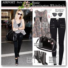 Rosie Huntington-Whiteley s Airport Style
