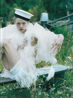 """White Nights""   Sasha Pivovarova by Tim Walker for Vogue UK January 2007"