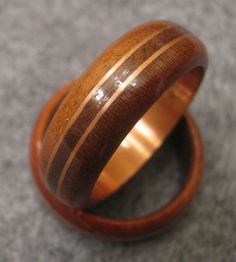 Copper and Wood Ring by ByronsRingsAndThings on Etsy, $100.00
