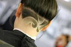 42 Most Elegant Undercuts Haircuts & Hairstyles for Female Undercut Hair Designs, Undercut Women, Female Undercut, Shaved Undercut, Shaved Nape, Butch Haircuts, Short Hair Cuts, Short Hair Styles, Hair Tattoo Designs