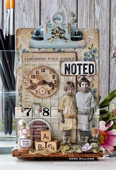 Hi all and welcome to another week on the Simon Says Stamp Monday Challenge Thank you for joining us for the … Altered Canvas, Altered Art, Altered Tins, Mixed Media Canvas, Mixed Media Art, Clipboard Crafts, Foto 3d, Paper Art, Paper Crafts