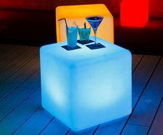 Cordless LED Lamp Cube