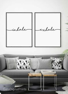 Inhale Exhale Printable Wall Art | Home Decor | Modern Typography | Wall Decor | Wall Art #affiliatelink