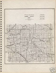 1939 Jasper County, Iowa map