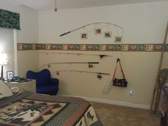 Fishing Theme Boys Bedroom Want To Do The Top Rod Picture Frames