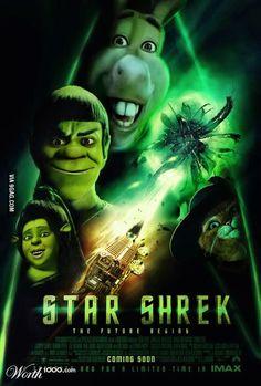 """Googled """"Star Shrek"""" - was not disappointed. #star trek  and #shrek"""