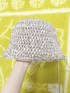 첫번째 니트 모자는 할무니 선물 드렸으니 이번엔 내꺼도 만들자! 코바늘 버킷햇 뜨기! 자 그럼 시작해볼까...