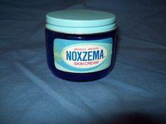 1960s/70s Glass Cobalt Blue jar of Noxema Skin Care