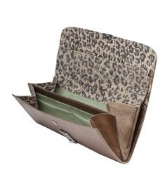 "Kellnerbörse ""Leone"" in vintage gold Innenfutter: Leo Clutch, Leo, Zip Around Wallet, Purses, Gold, Vintage, Waiting Staff, Bags, Handbags"