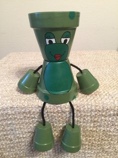 Clay Pot People - Frog