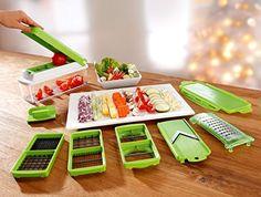 Genius Nicer Dicer Plus - Decoupe facile Legumes et fruits - 11 Pieces: Amazon.fr: Cuisine & Maison
