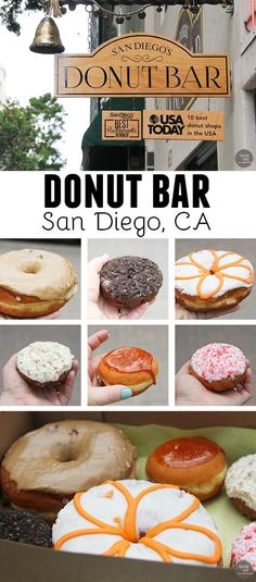 Donut Bar in San Diego, CA - for award winning donuts, and the best yeast donuts I have had!