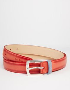 """Belt by Paul Smith Smooth matte finish Pin buckle fastening Single keeper Treat with a suitable leather protector 100% Leather Belt width: 3cm/1"""""""