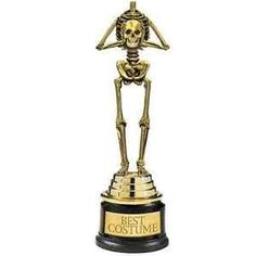 Best Costume Skeleton Trophy Haunted House Carnival Halloween Party Favor Award ** Continue to the product at the image link.
