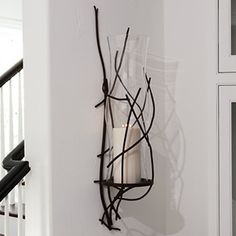 Branch Wall Sconce with Glass Hurricane