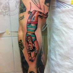 tattoo old school / traditional ink - circus boy (by Viola Von Hell)