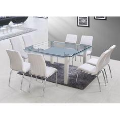 DT-29-1 Chocolate, White Glass Square Table | DT-29-GS | USP Furniture