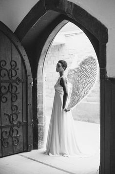 """devoutfashion: """" Carmen Ekpo Styling & Gowns – The White Room (Chloe Curry) Photographer – India Hobson """" African American Expressions, African American Artwork, Angel Clouds, Black Art Pictures, Amazing Pictures, Angel Warrior, Black Angels, Angels Among Us, Black Women Art"""