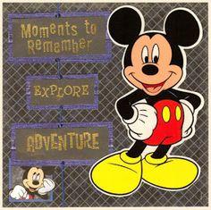 Cricut Inspired Scrapbook Layouts: Disney 8 x 8 inch Mini Scrapbook Album 2006