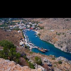 Little Vathy, Our favourite anchor in Kalymnos. Always fun and games here!