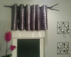 Kilz grey primer and Glidden self leveling trim paint on a stick for a rustic modern touch to a window treatment.