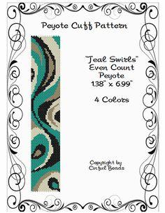 Peyote pulsera patrón diseño de remolino con por CinfulBeadPatterns